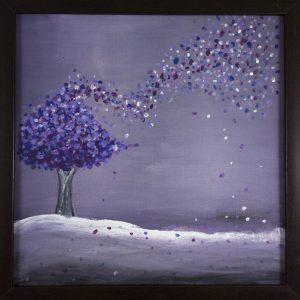 Tablou pictat Cer de purpura