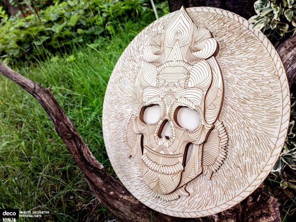 Gravura tablou shamanic - craniu