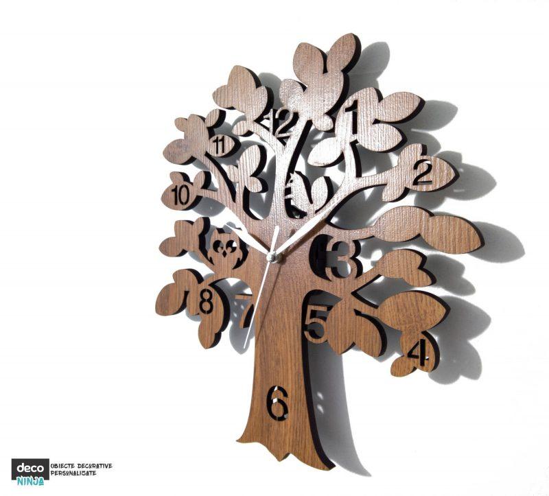 Ceas copac cu bufnita 2