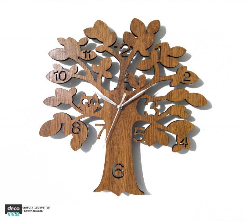 Ceas copac cu bufnita