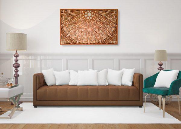 wall tablou starturi mandala soare